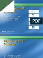 High Impact HR Strategies