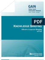 Effective Corporate Blogging