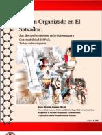 Crimen Organizado en El Salvador Sus Efectos Perniciosos en La Governanza y Gobernabilidad Del Pais