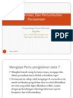 Data, Informasi Pertumbuhan an