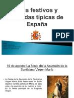 Días festivos y comidas típicas de España
