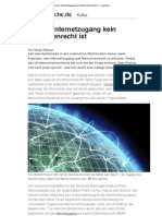 Netz-Debatte - Warum Internetzugang Kein Menschenrecht Ist -- Sueddeutsche