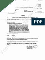 2012-01-11 Farrar Subpoena to Obama
