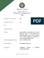 PROYECTO DE LEY 402 QUE ADECUA LA SALA V