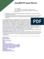 Zastitni Zid Sa OpenBSD PF Paket Filterom
