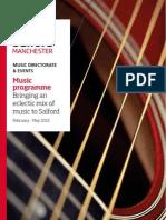 University of Salford Music Programme (Feb - May 2012)