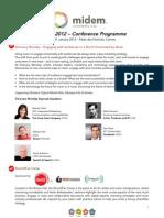 Midem 2012 (Cannes, 28-31 Jan) - Conference Programme