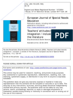 Teachers' attitudes towards integration avramidis e norwich