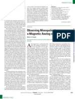 Michel J. P. Gingras- Observing Monopoles in a Magnetic Analog of Ice