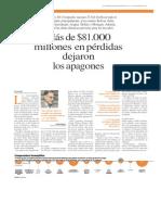 Pérdidas Economicas por Crisis Electrica 2010-2011
