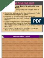 Analyse SWOT Genre