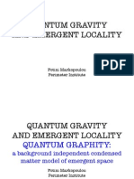 Fotini Markopoulou- Quantum Gravity and Emergent Locality