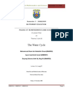 A Lesson Plan - The Water Cycle