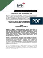 REGLAMENTO PARA LA EMISION E INSCRIPCION DE VALORES REPRESENTADOS POR MEDIO DE ANOTACIONES EN CUENTA