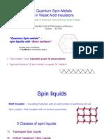 MPA Fisher et al- Quantum Spin-Metals in Weak Mott Insulators