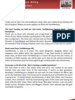 New York Silicon Alley Weekly Newsletter 27-January-2012