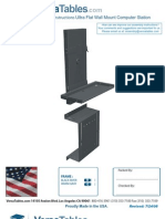 Ultra Flat Wall Mount Computer Station (UFWM Series) Assembly Instructions