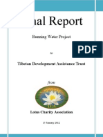 Tibetan Development Assistance Trust Running Water Project for a Tibetan Nunnery & Nyimapa Practitioner Temple
