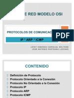 Protocolos Ip, Arp, Ismp