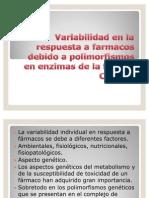 Variabilidad en La Respuesta a Farmacos Debido A