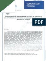 Controle químico de plantas daninhas na cultura do miho em Rondônia