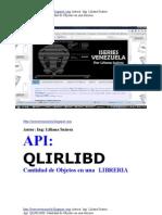 API Qlirlibd para saber cuantos objetos tiene una libreía