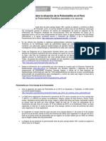 Informe sobre la situación de la Poliomielitis en Perú