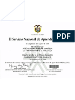 Certificado # III