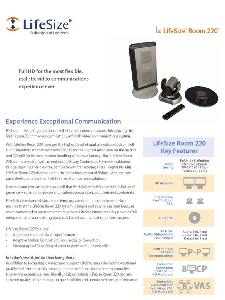 LifeSize Room220 Datasheet en A4   Videoconferencing   High ...