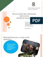 Evaluación del programa educativo