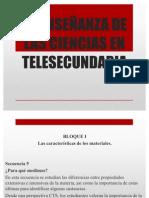 LA ENSEÑANZA DE LAS CIENCIAS EN TELESECUNDARIA
