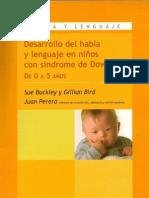 Desarrollo Del Habla y Lenguaje en Ni Os Con Sindrome de Down