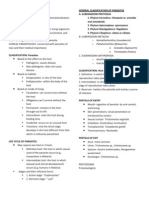 Clinical Parasitology Outline