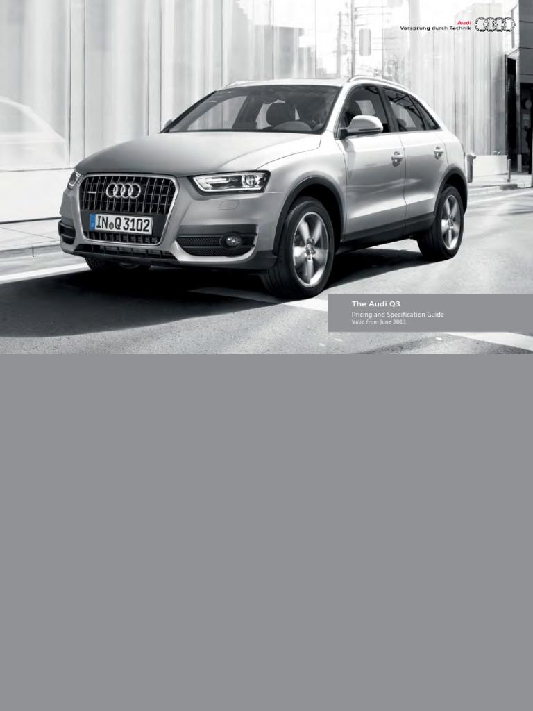 Audi Q3 Brochure Uk Version Audi Diesel Engine
