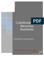 cuestionario de La Lectura Recursos Humanos