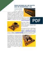 AMPLIFICADOR ESTEREO DE 180 WATTS CON ENTRADA DE MICRÓFONO Y EQ