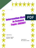 Intervention Materials