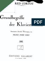 Cortot Grundbegriffe Der Klaviertechnik