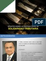 Apuntes breves sobre proyecto de Solidaridad Tributaria