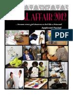 A Royal Affair Applicant Packet 2012