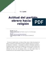 V.I. Lenin - Actitud del Partido Obrero a la Religión
