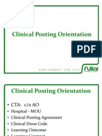 Clinical Posting Orientation