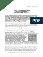 D Core Indigo Technical Bulletin 1-11-11