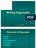 Writing Argument