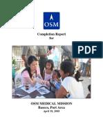 Sample of Medical Mission Budget Proposal