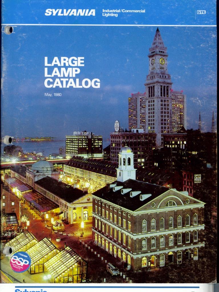 sylvania 1980 large lamp catalog