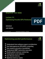 Optimizing Gpu Performance