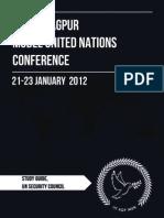 UN Security Council Study Guide - IIT KGP MUN 2012