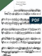 Haydn Piano Sonata No 27 in G