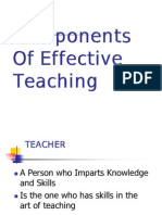 Components of Effective Teaching